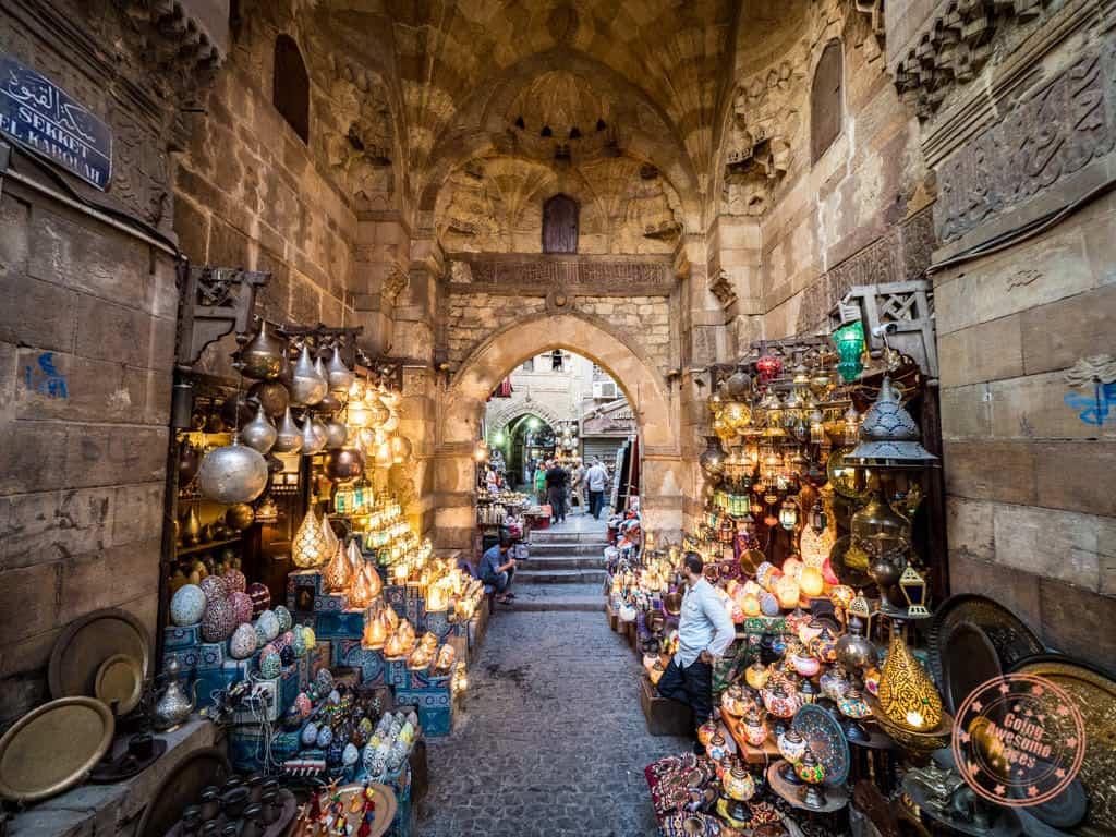 khan el khalili lantern entryway street