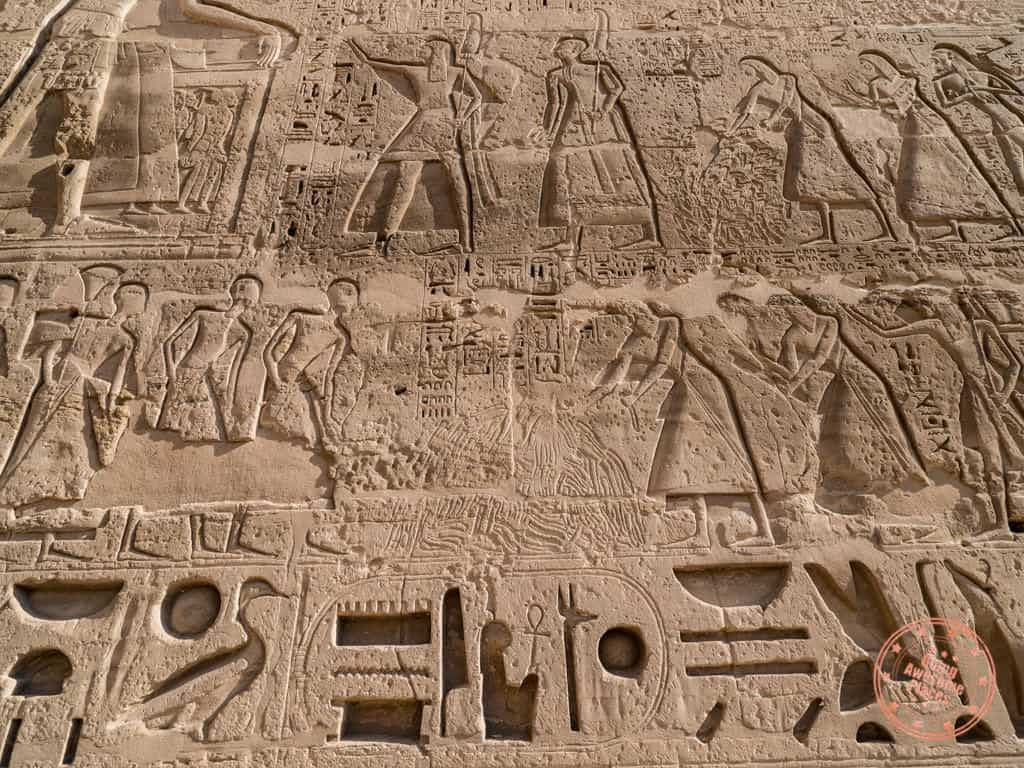 medinet habu temple counting kills male phallus relief