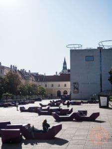 museumsquartier leopold museum courtyard
