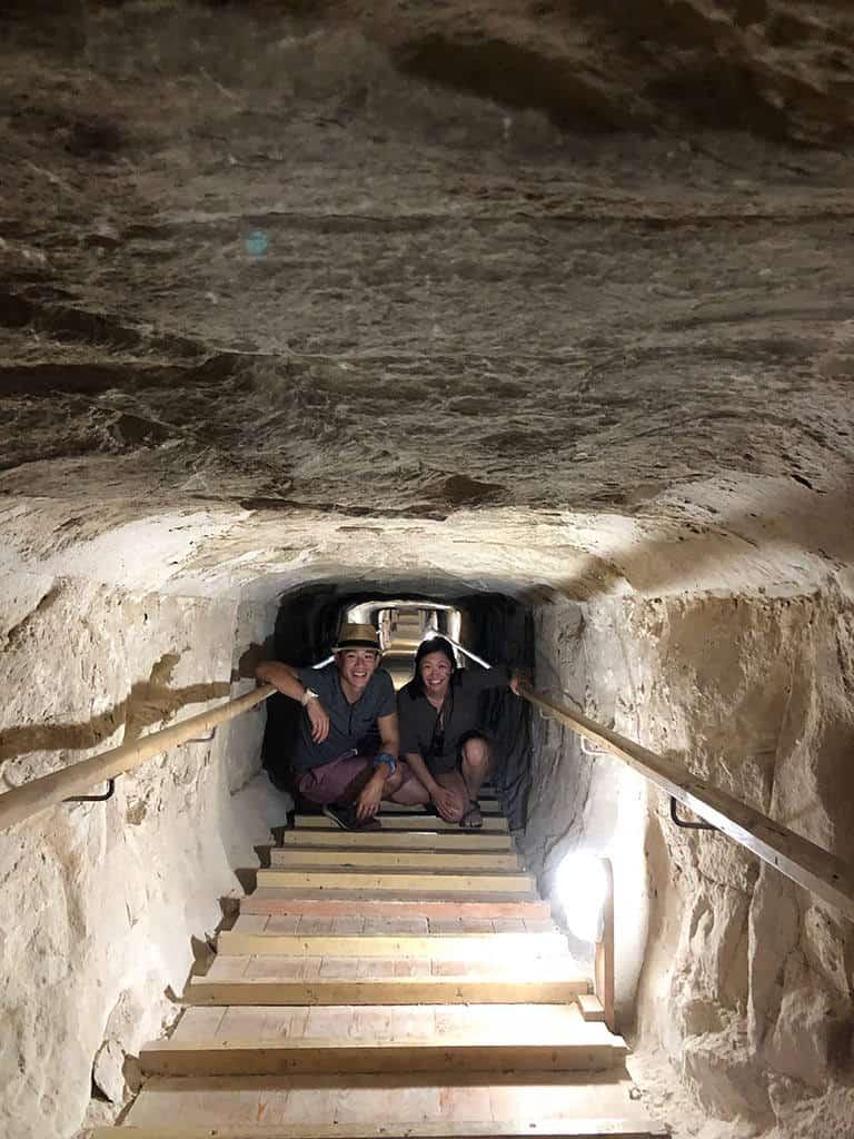narrow passageway bent pyramid
