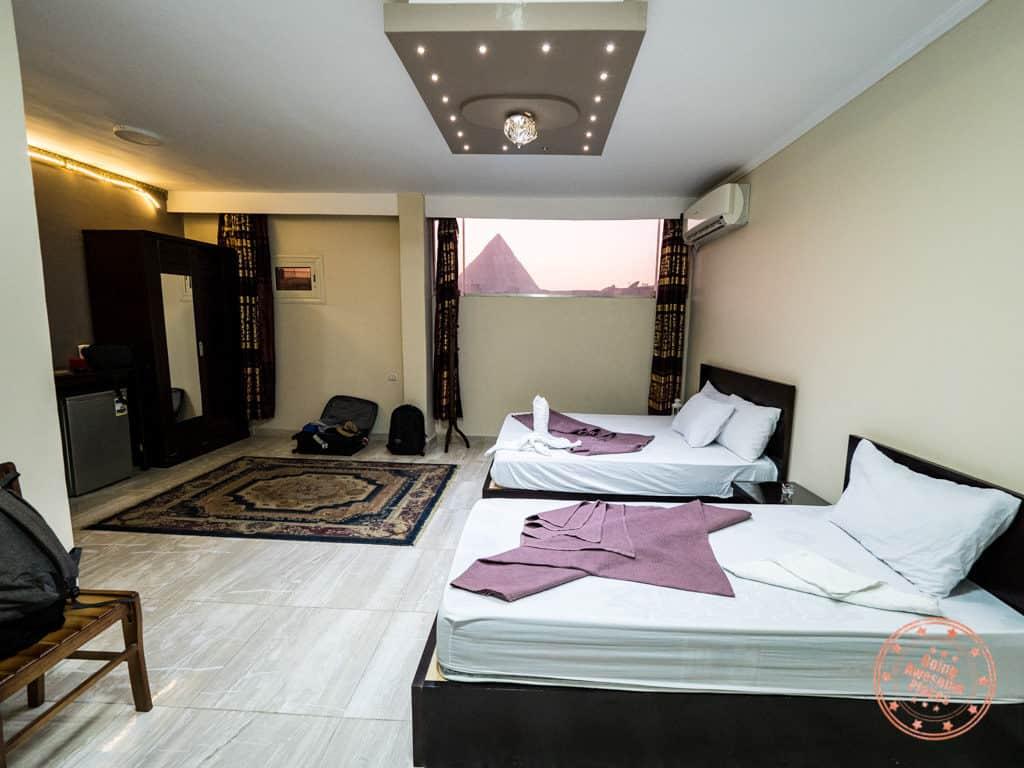 comfort pyramids inn room interior