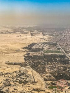 pyramids of giza aerial view