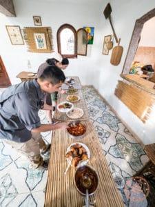 saqqara farmhouse lunch at blue lotus guesthouse
