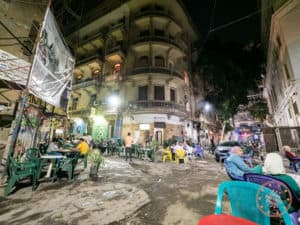 street cafe in cairo smoothie tea shisha