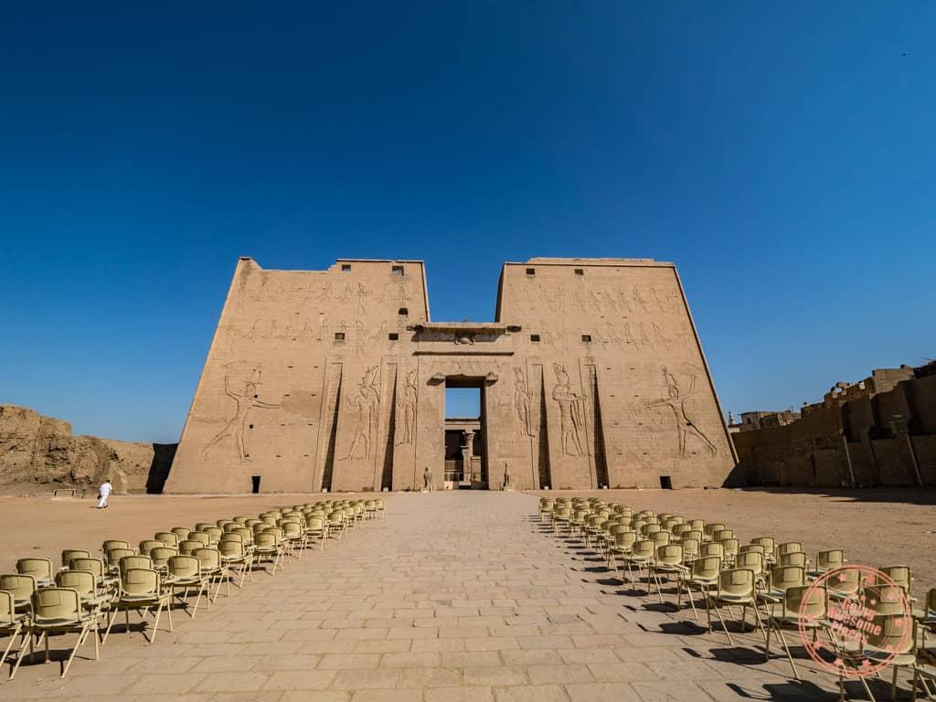 temple of edfu pylon entrance 10 day egypt itinerary