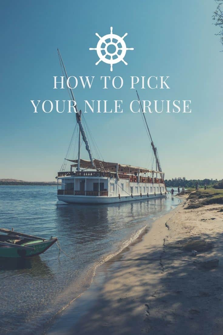 Travel planning guide to help you decide which Nile Cruise from Luxor to Aswan or vice versa you should pick and why the dahabiya is your best choice. #egypt #nileriver #nilecruise #wanderlust #tripplanning