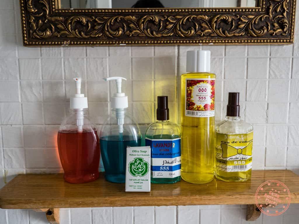 toiletries included in the dahabiya cabin