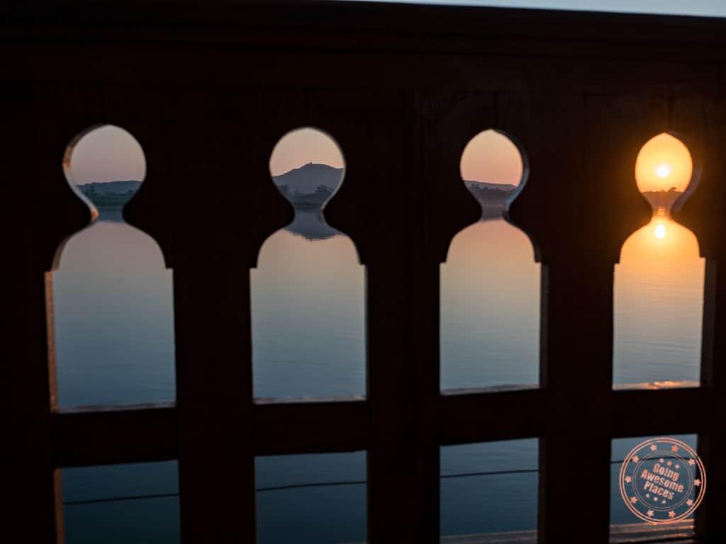 dahabiya wood design nile cruise at sunrise