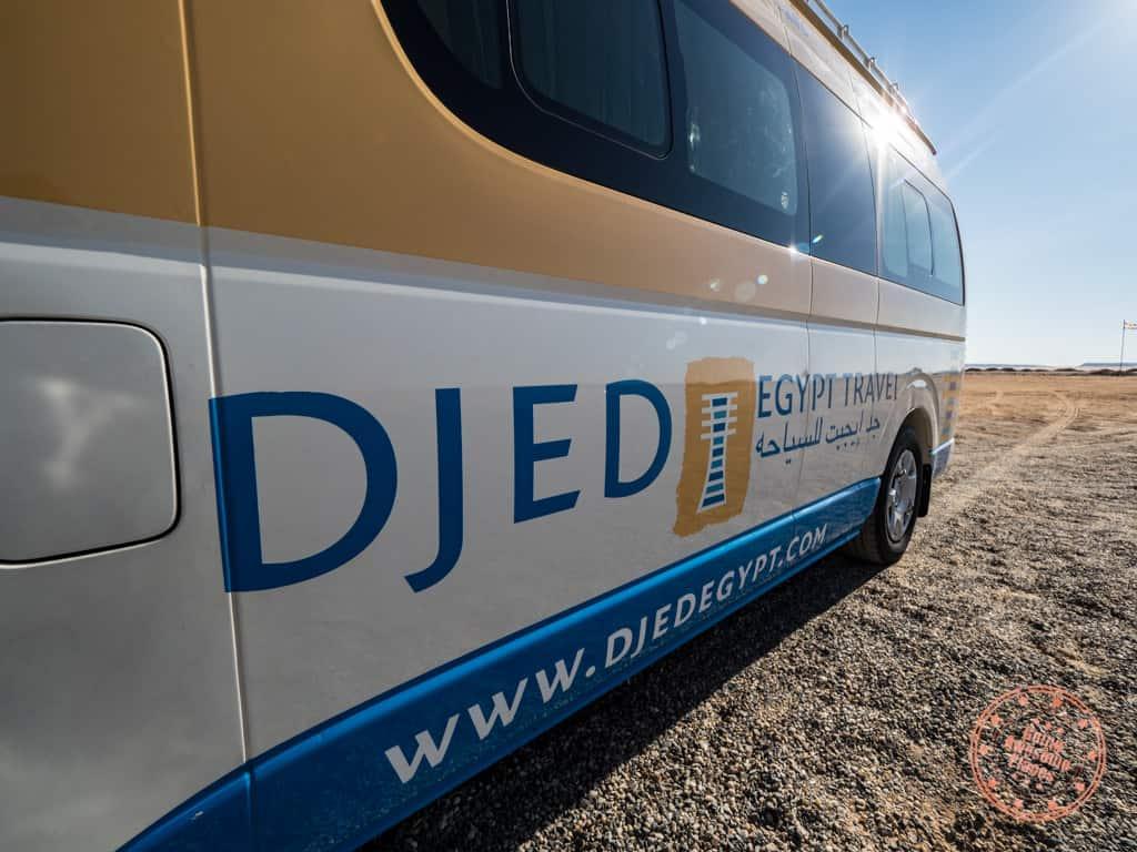 djed egypt travel logo on van