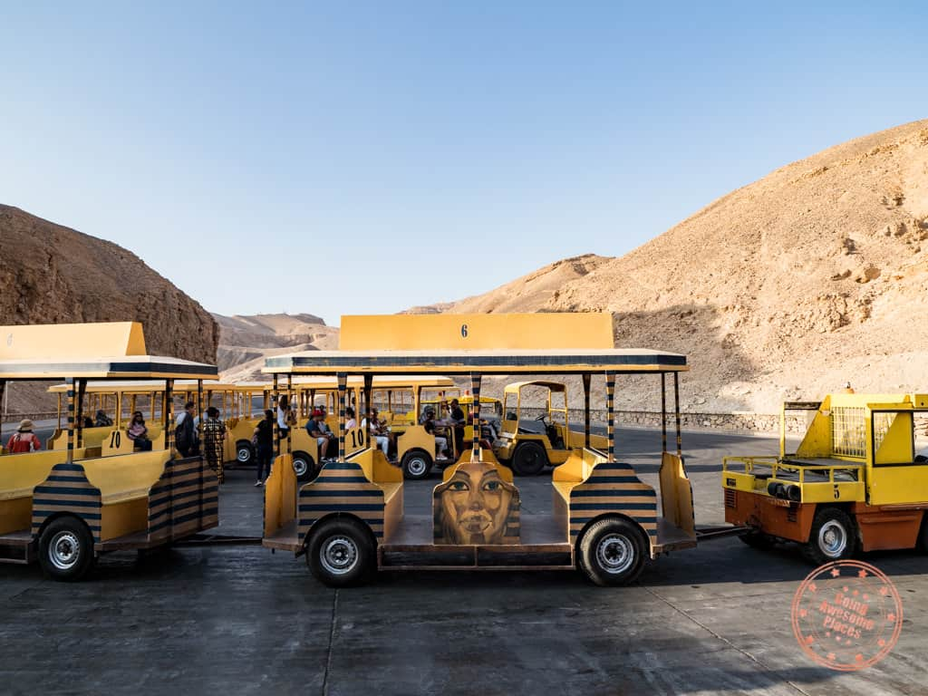 valley of the kings trolley shuttle