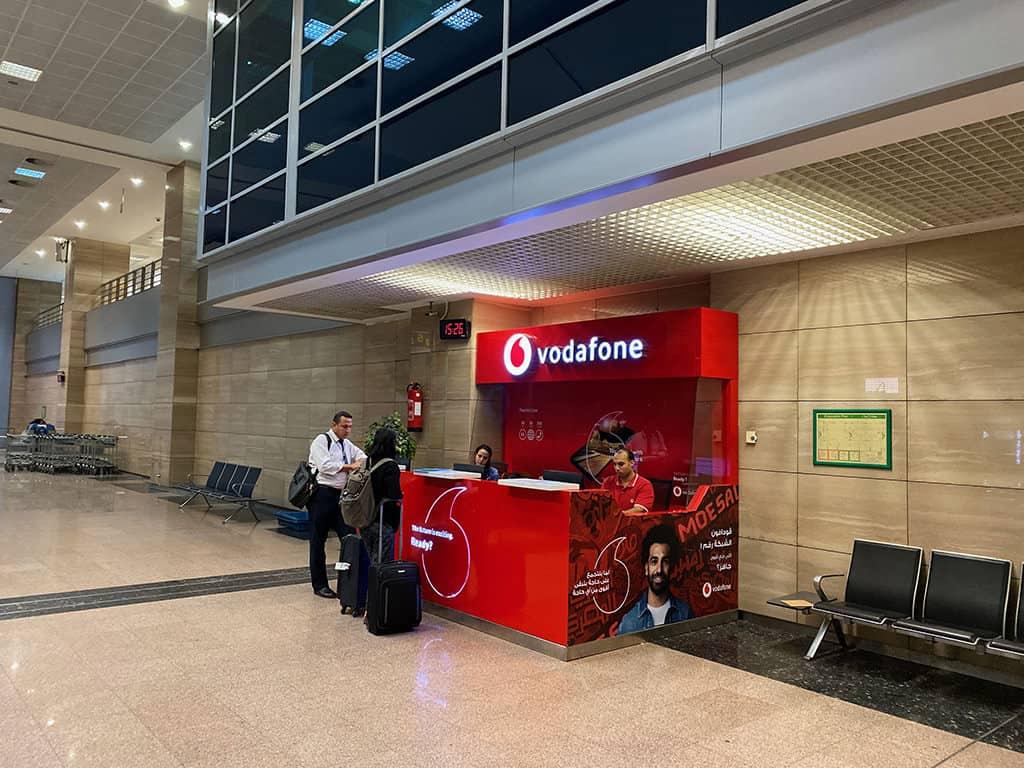 vodafone cairo airport counter