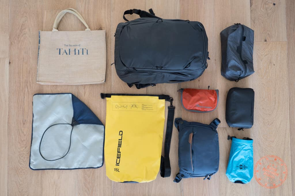 tahiti packing list bags and organizers