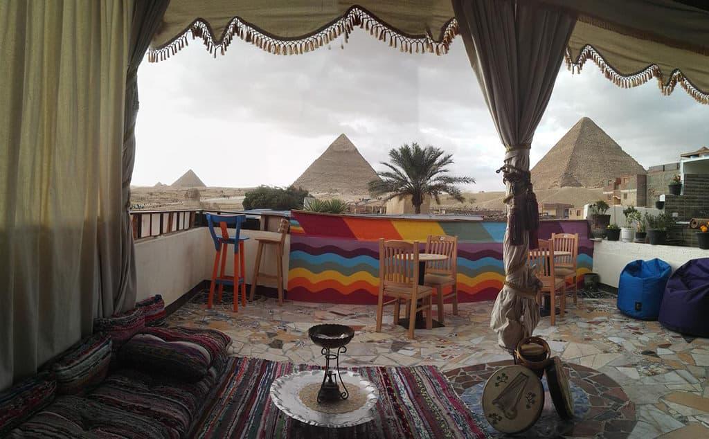 atlantis pyramids inn cozy rooftop hangout