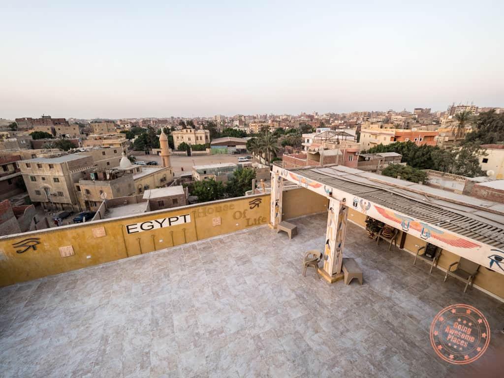 lower rooftop of comfort pyramids inn