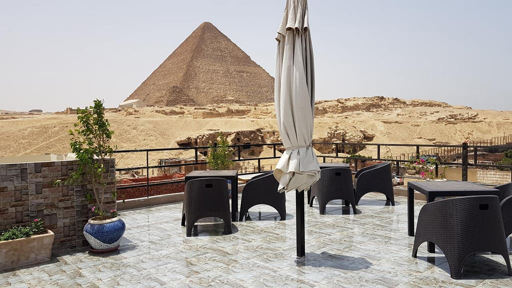 pyramids guest house rooftop view