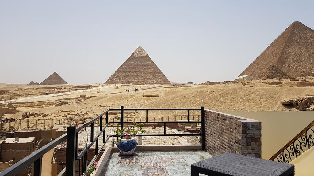 pyramids guest house rooftop