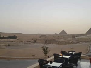 pyramids valley hotel rooftop view