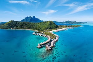conrad bora bora nui aerial view where to stay