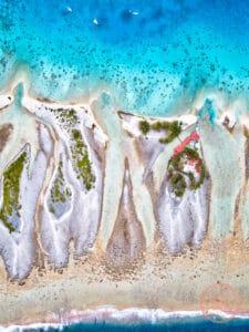 fakarava motu aito paradise south pass aerial view