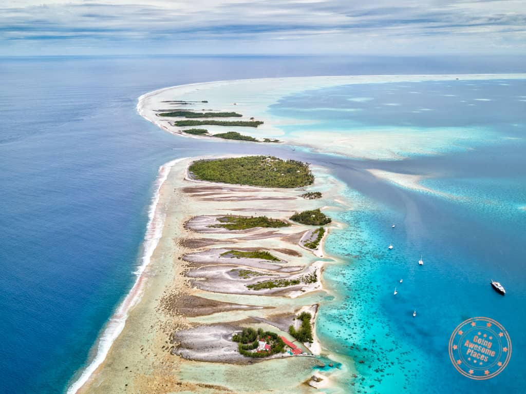 fakarava atoll aerial south pass 16 day tahiti itinerary french polynesia