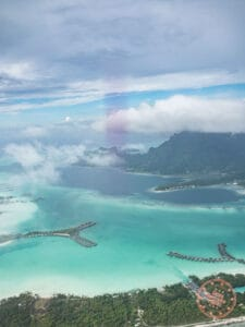 flying into bora bora with air tahiti
