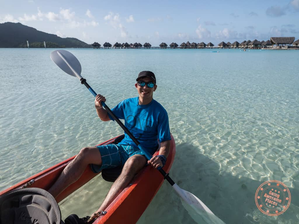 glass bottom kayak bora bora in tahiti itinerary