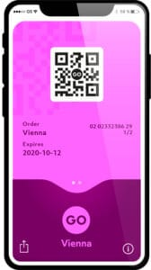 go vienna pass digital on a mobile phone