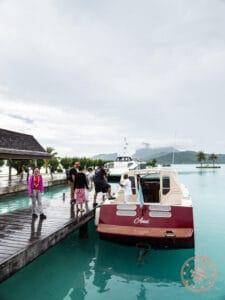 le meridien bora bora shuttle boat