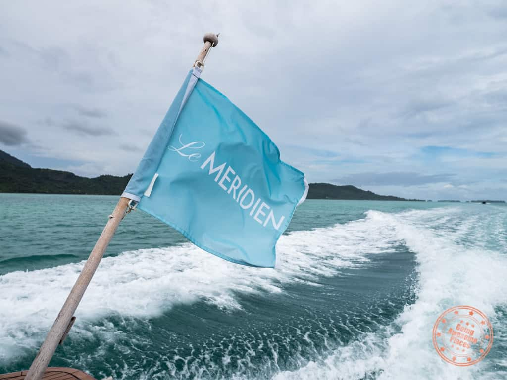le meridien bora bora shuttle flag in 2 week itinerary