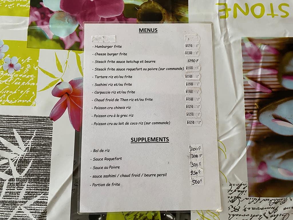 snack reimanutea menu