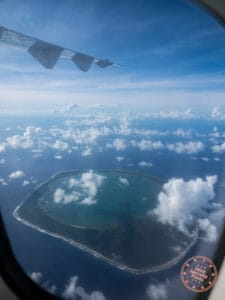 tuamotu atoll from plane