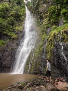 vaimahutu falls in tahiti