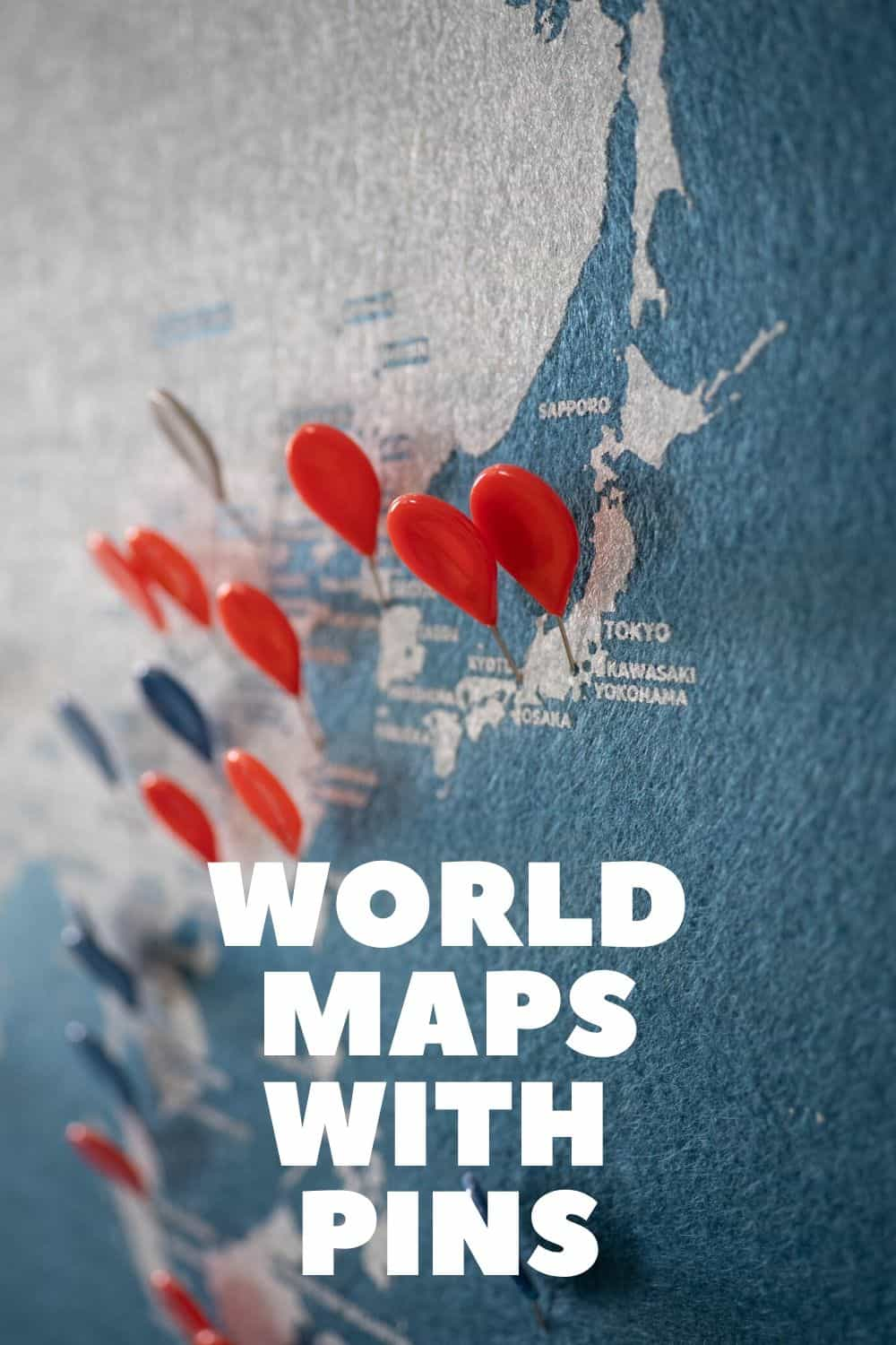 Best World Map with Pins for Travellers at Home