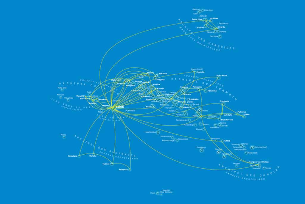 air tahiti route map