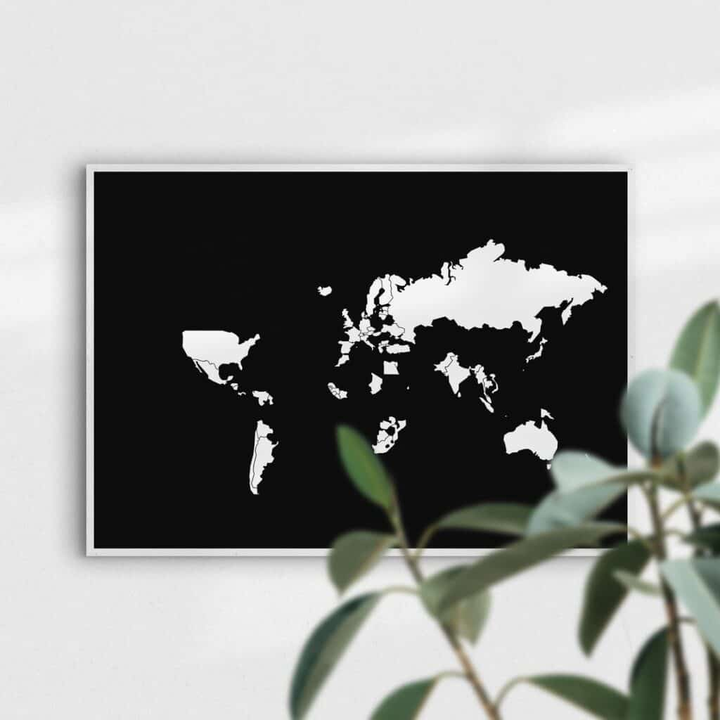 boldtuesday peel off world map on etsy