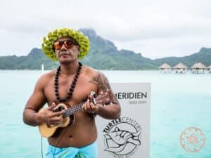 le meridien bora bora arrival ukulele