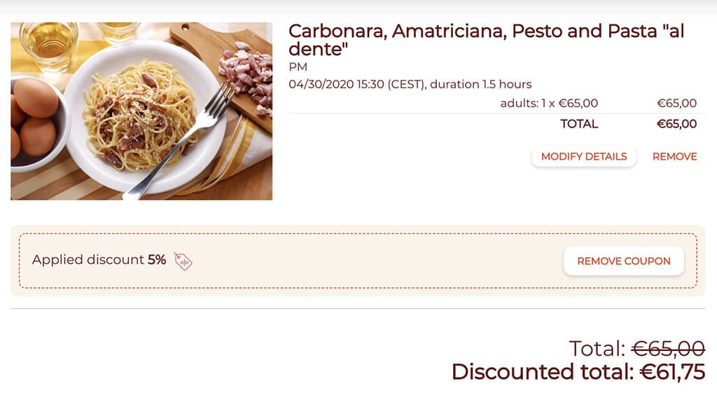 cesarine 5% discount with going awesome places code