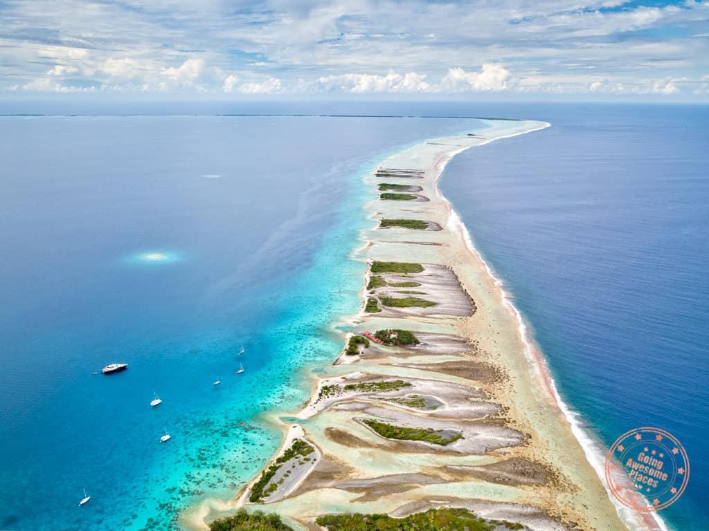 fakarava atoll drone aerial