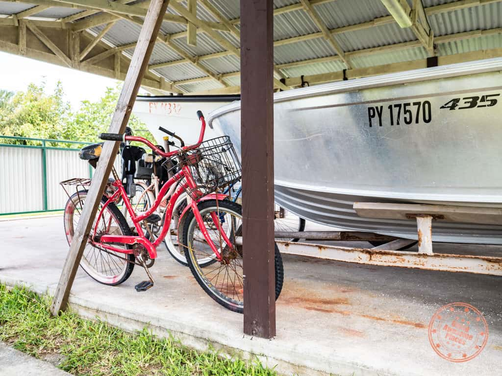 free bicycles at pension in rangiroa