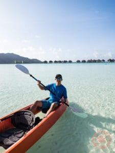 le meridien bora bora glass bottom canoe
