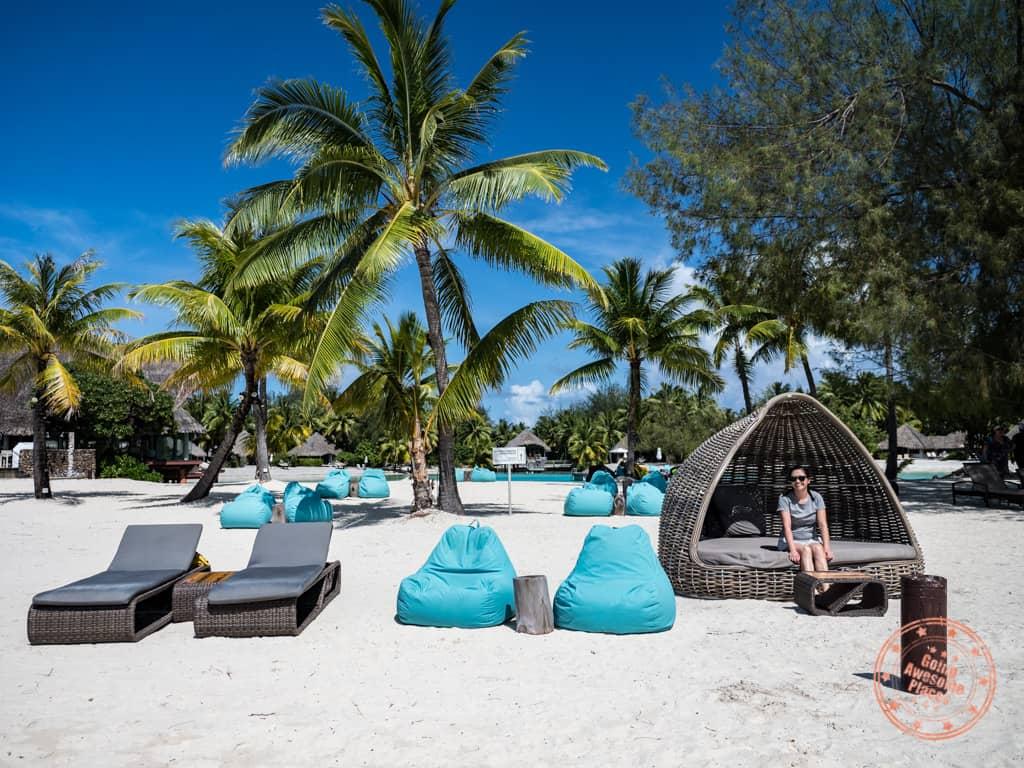 le meridien bora bora beach chairs