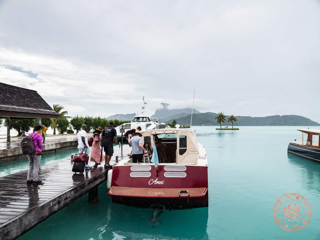 le meridien bora bora boat shuttle