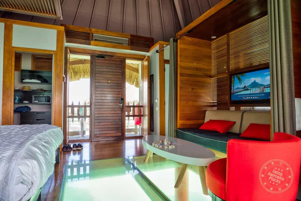 le meridien bora bora bungalow polynesian interior