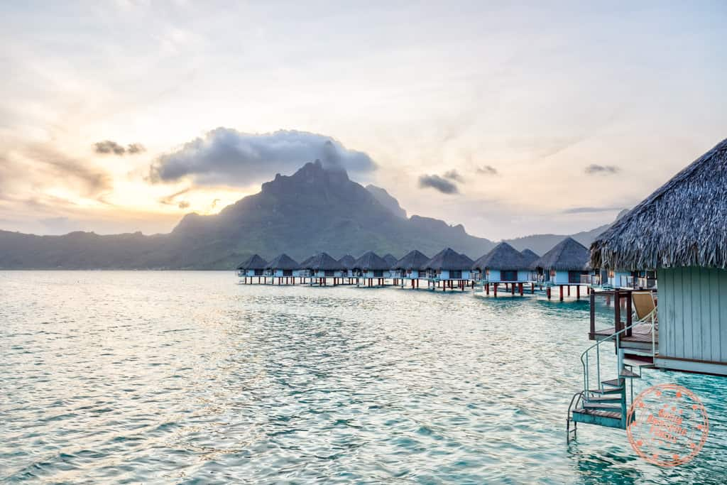 le meridien bora bora overwater bungalow sunset tahiti travel guide