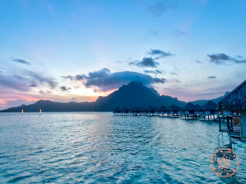le meridien bora bora colourful sunset is worth it
