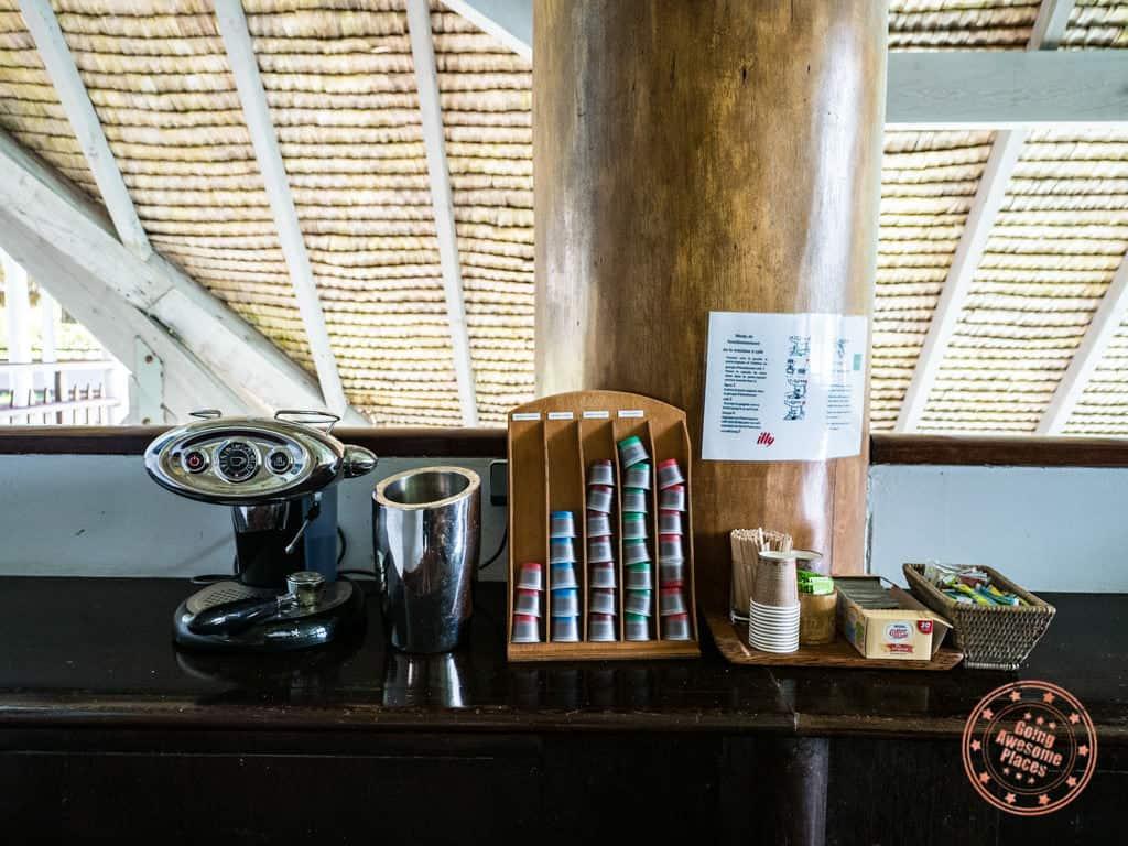 le meridien bora bora complimentary illy espresso machine