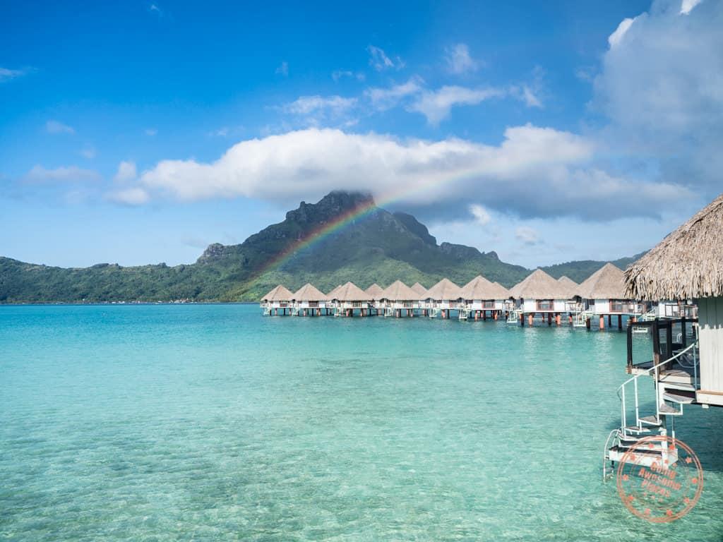 le meridien bora bora overwater bungalows rainbow