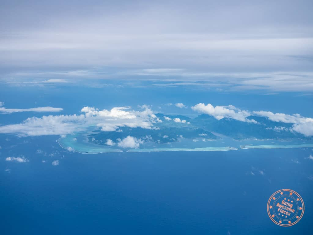 moorea from air tahiti flight