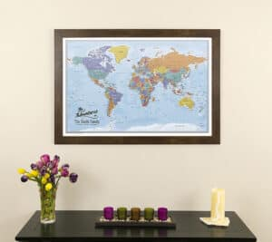 push pin travel maps canvas with background