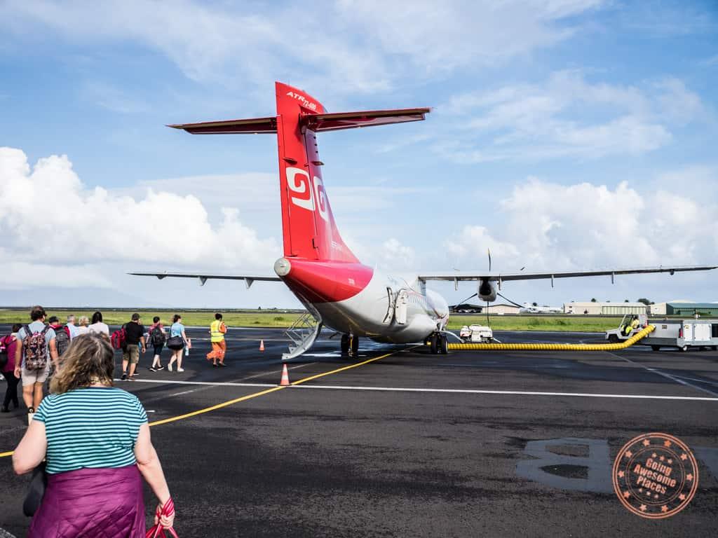 getting to bora bora with flight from tahiti